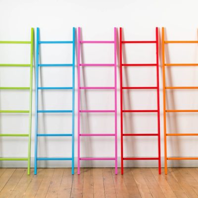 long colored ladders