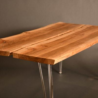 Oak split slab table
